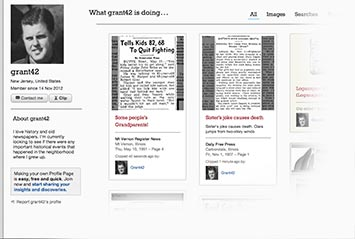 Profile page on Arizona Daily Star Archive